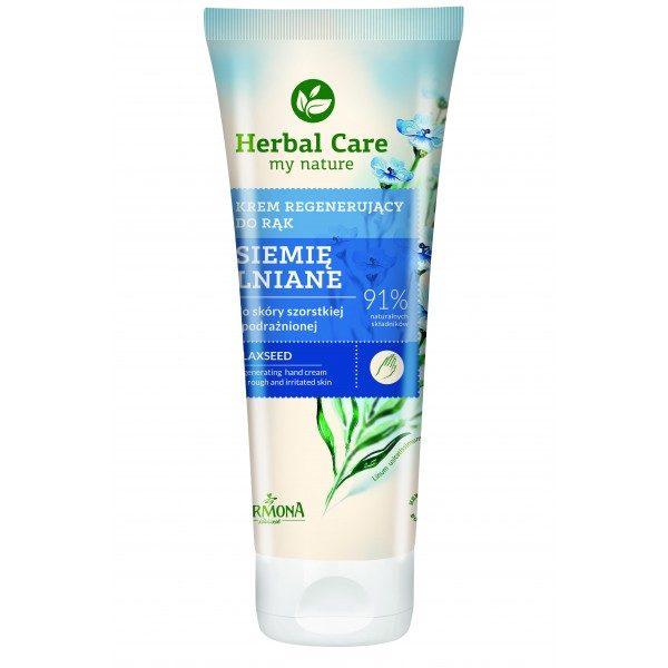 Crema regeneratoare pentru maini si unghii cu extract de seminte de In - Herbal Care