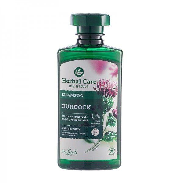 Șampon cu extract de Brusture – pentru păr gras, cu mătreață
