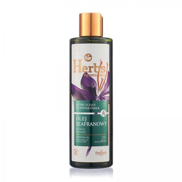 Nutri ulei de baie și duș cu ULEI DE ȘOFRAN Herbs