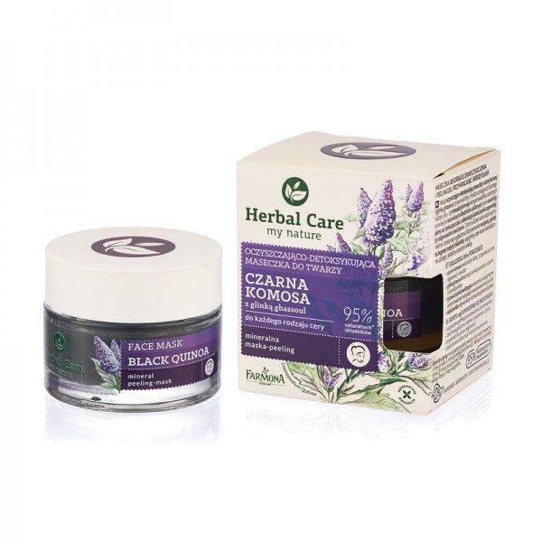 Mască-peeling purificatoare-detoxifiantă cu QUINOA NEAGRĂ și ARGILĂ GHASSOUL Herbal Care