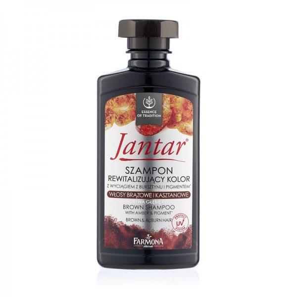 Șampon cu extract de CHIHLIMBAR Pentru păr brunet & castaniu JANTAR